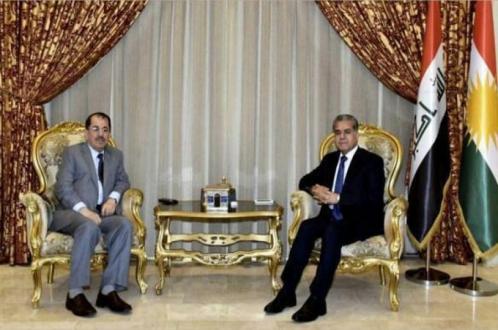 «ناظم دباغ» با «فلاح مصطفی» مسئول روابط خارجی حکومت اقلیم کردستان دیدار کرد